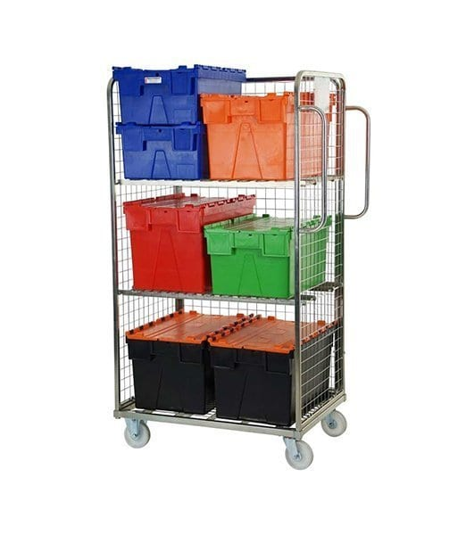 Three Sided Merchandising Picking Trolley