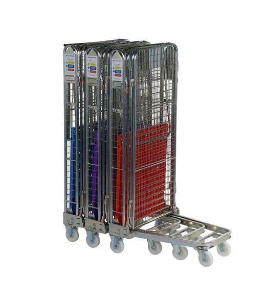 Three Sided Roll Pallet - Rod Infill and Plastic Base