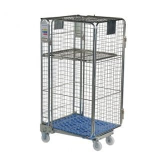 Security Roll Cage Plastic Blue Base