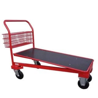 Cash and Carry Trolley Red