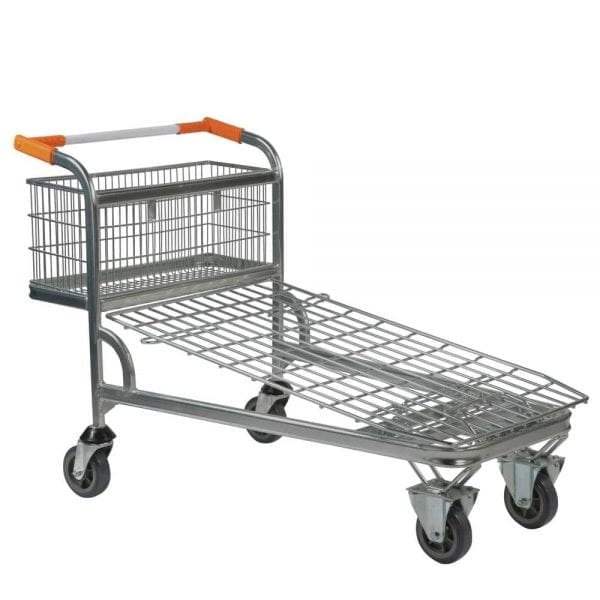 Cash and Carry Trolley with Wire Mesh