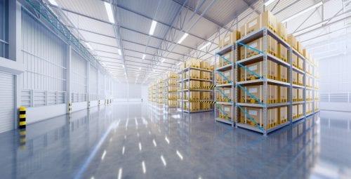 stillage in a warehouse